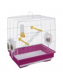 Клетка за птички с пълно оборудване 35.5/24.7/37 cм. - Ferplast - Rekord 1 White