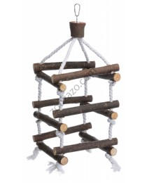 Trixie - Natural Living Tower with Rope - Играчка за Папагали и други Птици  34 см.