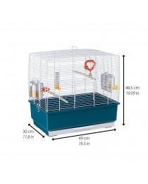 Клетка за малки птички с пълно оборудване /49х30х48,5см/ - Ferplast