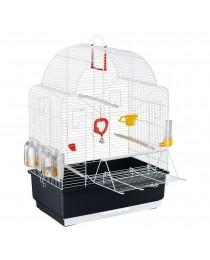 Клетка за декоративни птици с кацалка на вратичката