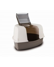 Закрита ъглова Котешка тоалетна с лопатка 58 / 47 / 38 см. - M.P.Bergamo Ariel Corner