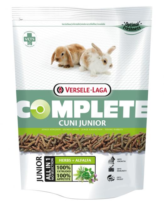 Versele Laga Cuni Junior Complete - Храна за мини зайчета под 8 месеца 500 гр.