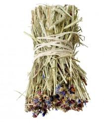 Сено тимоти , обогатено с метличина и коприва 70гр. - Snack Hay Bale Cornflower