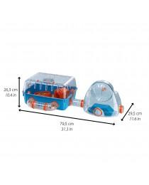 Оборудвана клетка за Хамстери 79,5 x 29,5 x h 26,3 cм. - Ferplast