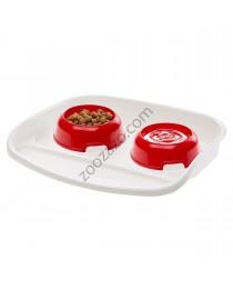 Ferplast Lindo - пластмасов комплект купи за хранене с табла 44,5/34/7см. 300 мл.