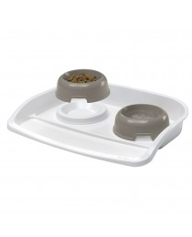 Ferplast Maxi Lindo - пластмасов комплект купи за хранене с табла 53/39/8 см. 500мл.