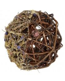 Плетена топка от естествена върба с лакомства за Гризачи - KERBL