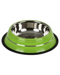 Метална купа за храна или вода цветна неръждаема 200мл.  - KERBL