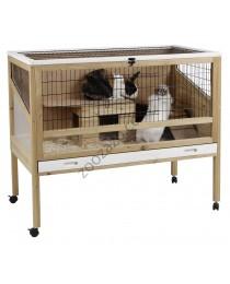 Дървена клетка за Декоративни Зайчета на колела - KERBL