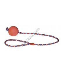 Играчка гумено топче на въже - KERBL