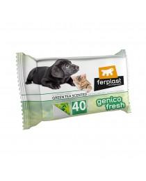 Влажни кърпички за почистване за Кучета и Котки. Зелен чай - 40 броя - Ferplast