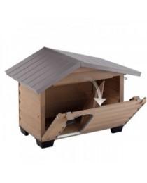 Ferplast Canada 2 - дървена къща за куче, 78 / 57 / 62 cm