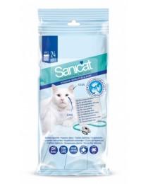 Почистващи кърпички за очи и уши за котка 24бр. - Sanicat Healthy Eyes&Ears Wipes