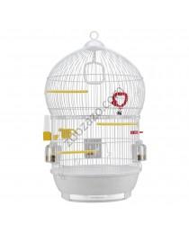 Клетка птички с пълно оборудване 43.5 / 68.5 см. - Ferplast - Bali White