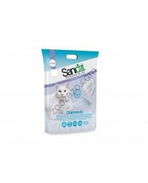 Sanicat Diamonds Natural - силиконова котешка тоалетна 7.5 литра / 3.6 кг. /