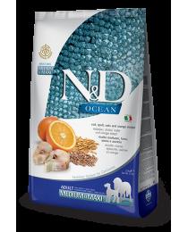 Farmina N&D - Храна за възрастни Кучета. Треска,лимец,овес,портокал 2.5кг.