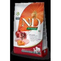 Farmina N&D - Храна за кучета от средни и едри породи с пиле, тиква и нар 12 кг.