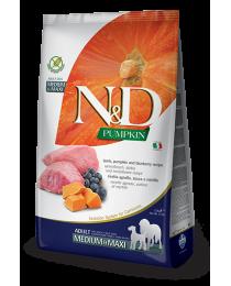 Farmina N&D - Храна за кучета от средни и едри породи с агнешко, тиква и боровинки 12 кг.