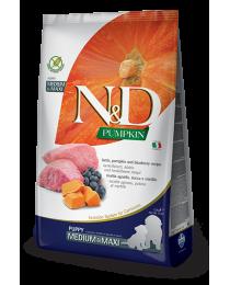 Farmina N&D - Храна за кученца от средни и едри породи с агнешко, тиква и боровинки 12 кг.