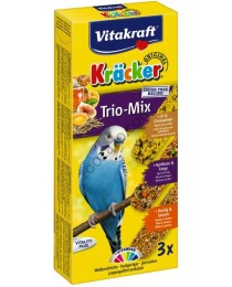 Храна за вълнисти папагали Vitakraft Trio Mix - 3бр. Крекер мед, яйце, плодове