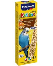 Храна за вълнисти папагали Vitakraft - 2бр. Крекер пуканки от просо и мед