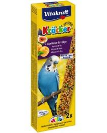 Храна за вълнисти папагали Vitakraft - 2бр. Крекер кайсия и смокиня