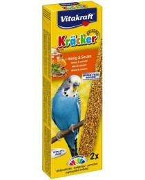 Храна за вълнисти папагали Vitakraft - 2бр. Крекер мед и сусам