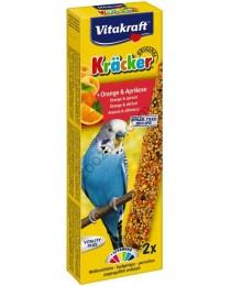Храна за вълнисти папагали Vitakraft - 2бр Крекер портокал и кайсия